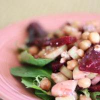 Salad with Beets Chickpeas Cucumbers and Blue Cheese side