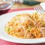 Baked Spaghetti Squash with Spicy Sausage Tomato Cream Sauce from Cupcakes and Kale Chips
