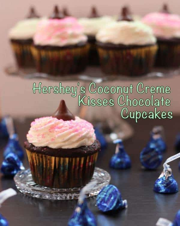 Coconut Chocolate Cupcakes with Title