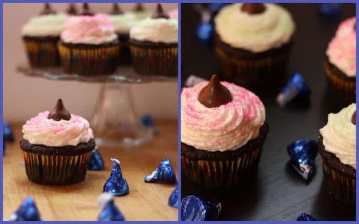 Coconut Creme Chocolate Cupcakes Collage 2
