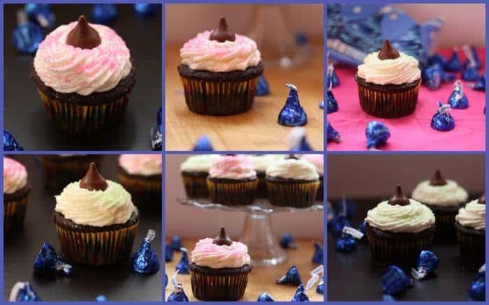 Coconut Creme Cupcake Collage