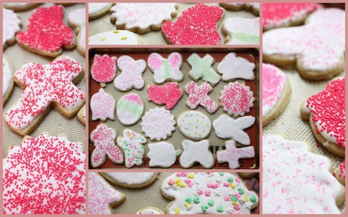 Lemon Whole Wheat Sugar Cookies with Strawberry Lemon Royal Icing