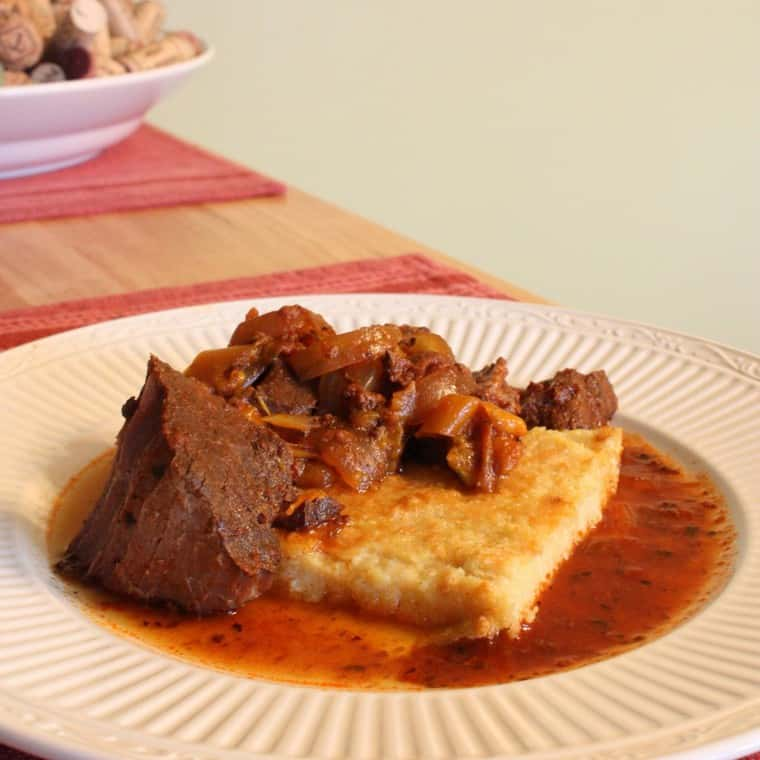 Steak Pizzaiola with Polenta