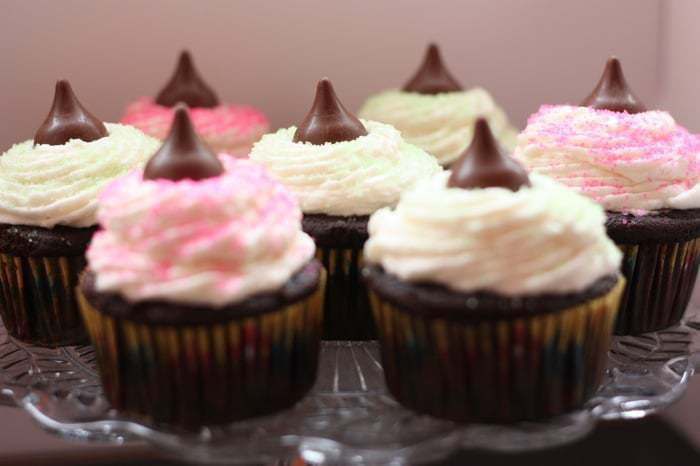 Hershey's Chocolate Coconut Creme Kisses Cupcakes