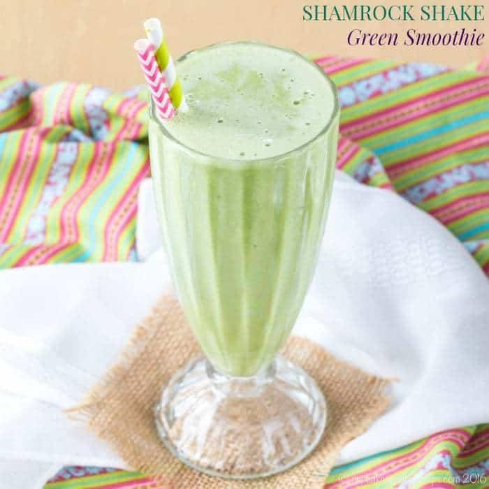 Shamrock Shake Green Smoothie - Cupcakes & Kale Chips