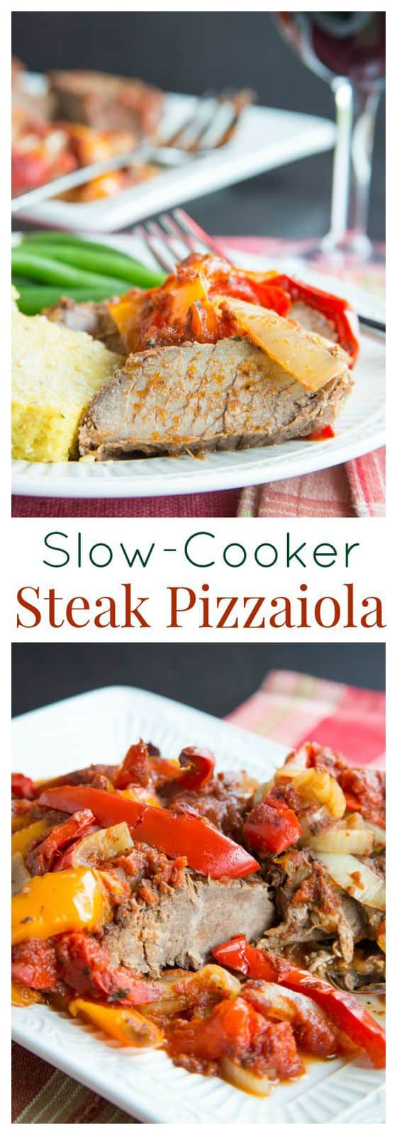 Slow Cooker Steak Pizzaiola Slow Cooker Steak Pizzaiola - a super simple family dinner that takes just a few pantry ingredients. Let it cook all day in the crockpot and come home to a hearty dinner. | cupcakesandkalechips.com | gluten free, paleo recipe