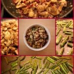 Asparaugs and Mushroom Millet Pilaf Collage