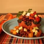 Stuffed baked sweet potatoes with Mexican flair! This healthy gluten-free meal is easy to make any night of the week, and it's a great gluten-free Cinco de Mayo food option, too!   CupcakesAndKaleChips.com