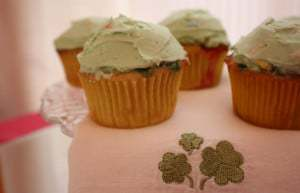 Lucky Charms Cupcakes with Shamrocks
