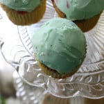Lucky Charms Cupcakes from top