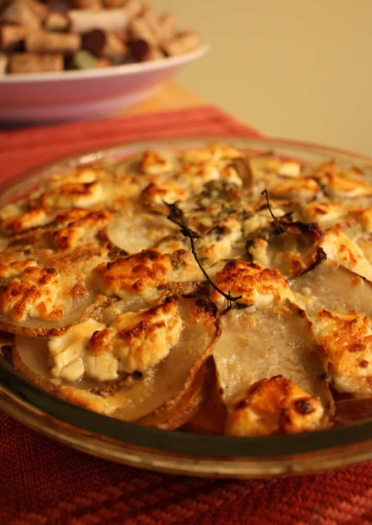 Potato Goat Cheese Gratin | cupcakesandkalechips.com #potatoes # ...