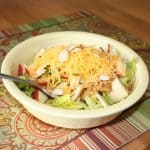 Apple cheddar and almond salad with balsamic maple dijon vinaigrette