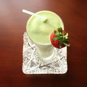 Shamrock Shake Green Smoothie from top