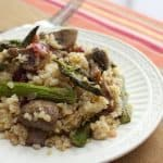 Asparagus and mushroom miillet pilaf leftovers