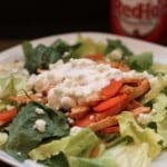 Skinny Buffalo Chicken Salad with Greek Yogurt Blue Cheese Dressing and Restaurant Salads