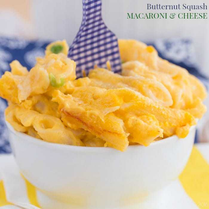 Two Cheese Butternut Squash Macaroni and Cheese - Cupcakes & Kale ...