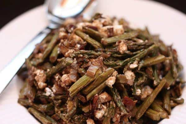 Caramelized Leek and Asparagus Salad Close Up