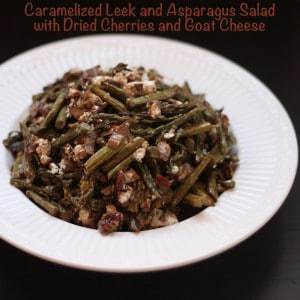 Caramelized Leek Asparagus Salad