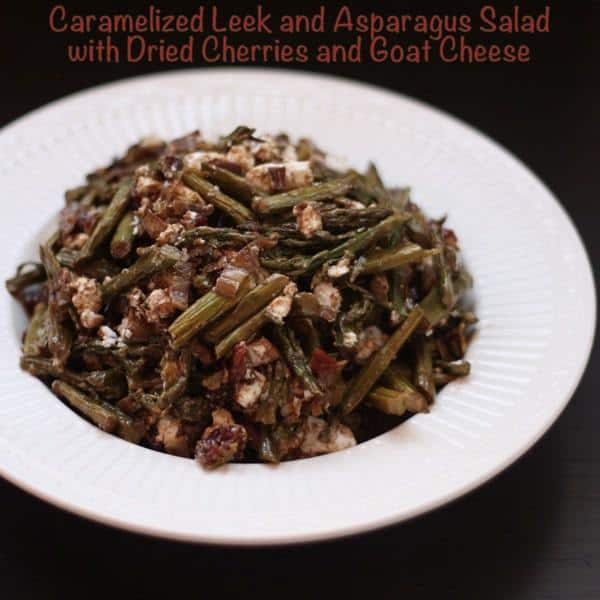Caramelized Leek and Asparagus Salad with Caption