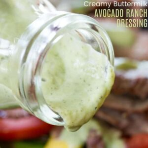 Avocado Buttermilk Ranch Salad Dressing