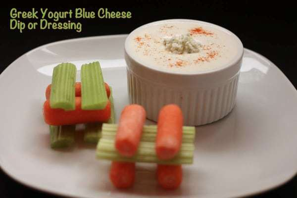 Greek Yogurt Blue Cheese Dip Dressing with Caption