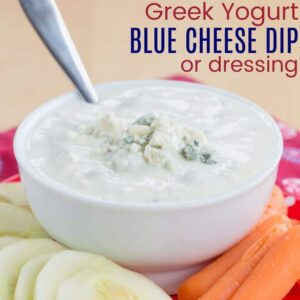 Greek Yogurt Blue Cheese Dressing Dip recipe-5200 title