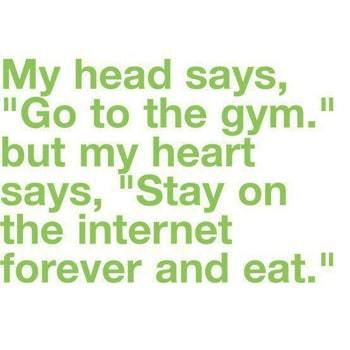 Head gym heart internet and eat