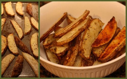 Herb Oven Fries Collage