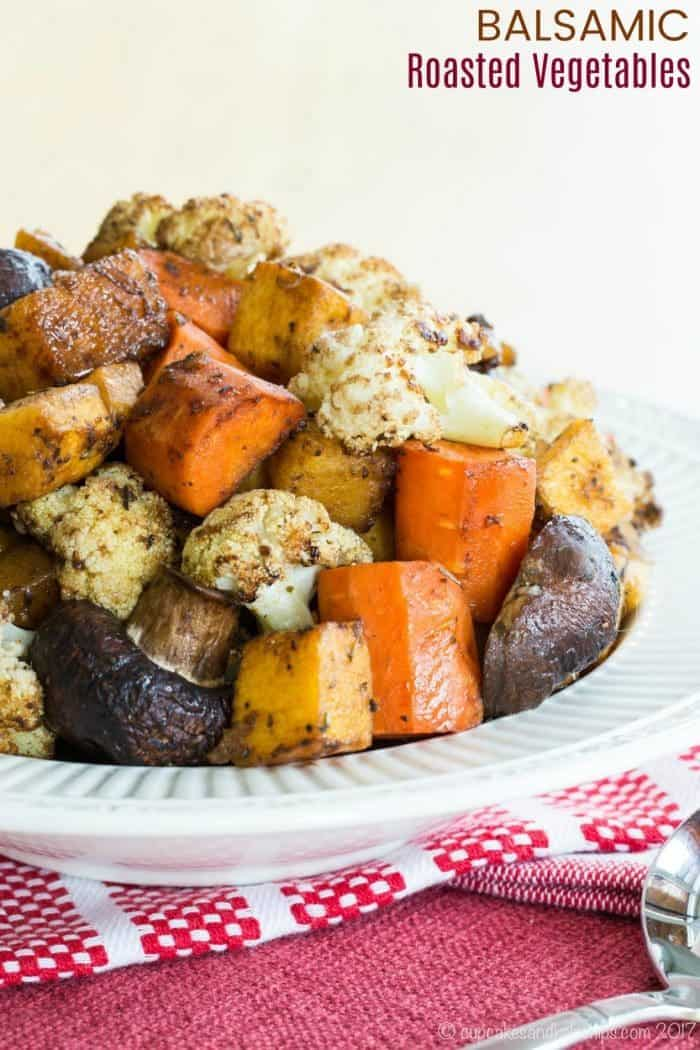 Balsamic Roasted Vegetables Recipe for roasted veggies with balsamic vinegar