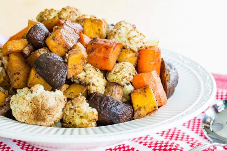 Easy roasted veggies in a serving bowl