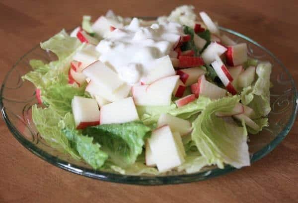 Blue Cheese Apple Romaine Salad