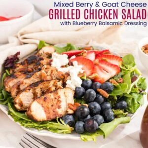 Mixed berry Grilled Chicken Salad featured image