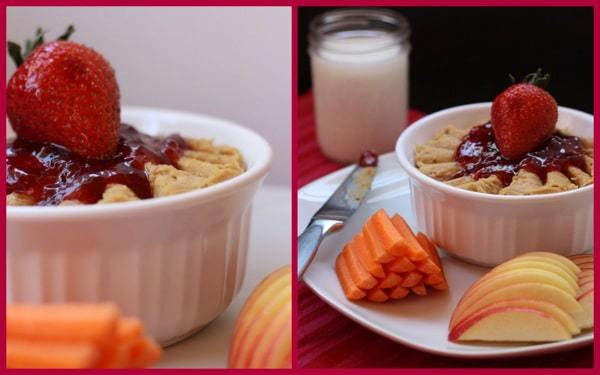 PB J Hummus Dip Collage