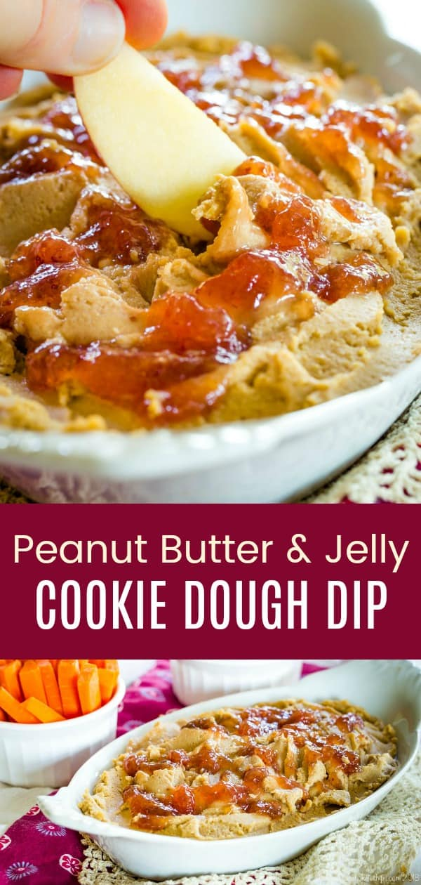 Peanut Butter and Jelly Cookie Dough Dip Pinterest Collage