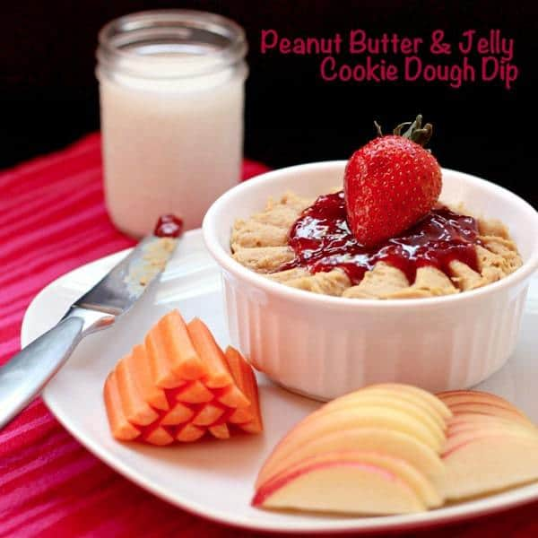 April Improv Challenge: Peanut Butter & Jelly Cookie Dough Dip (or PB ...