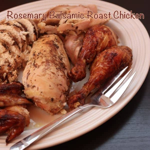 Rosemary Balsamic Roast Chicken with Caption