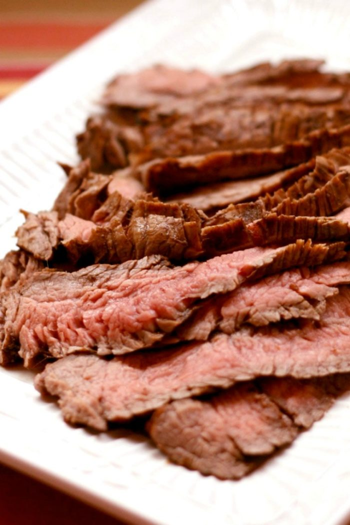 Grilled Flank Steak on a plate