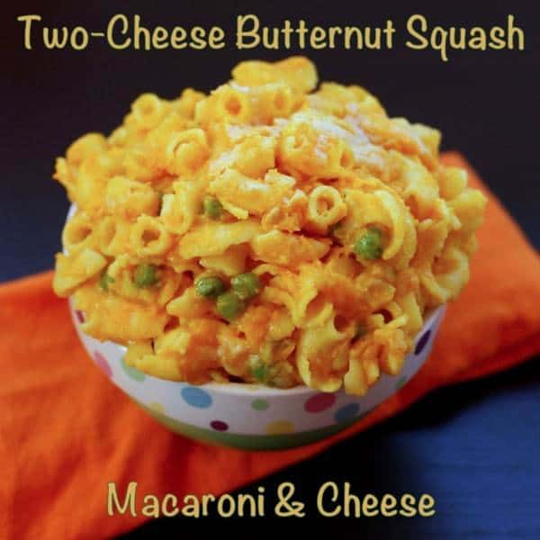 Two Cheese Butternut Squash Macaroni Cheese with caption
