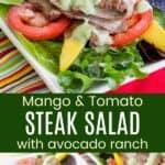 Mango Tomato Steak Salad Pinterest Collage