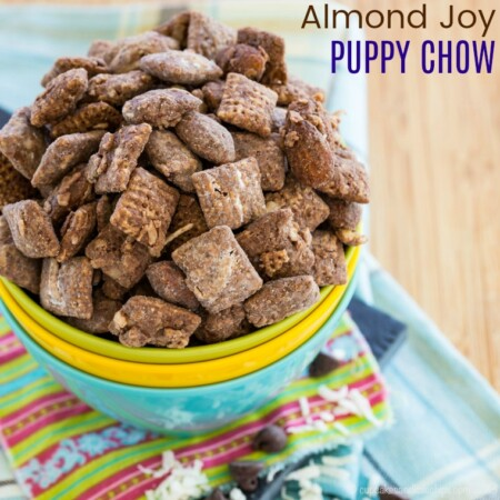 Almond Joy puppy chow snack