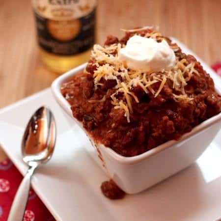 Bill's Chili -the World's Best Chili recipe with beef, bacon, and just the right amount of spice