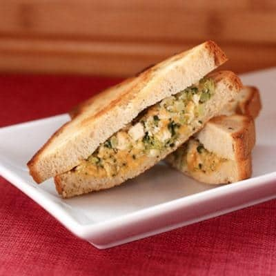 Chicken and Broccoli Grilled Cheese on Gluten Free Bread