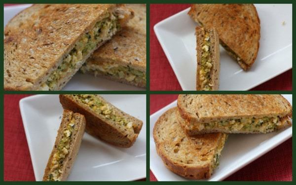 Chicken and Broccoli Grilled Cheese on Rye collage