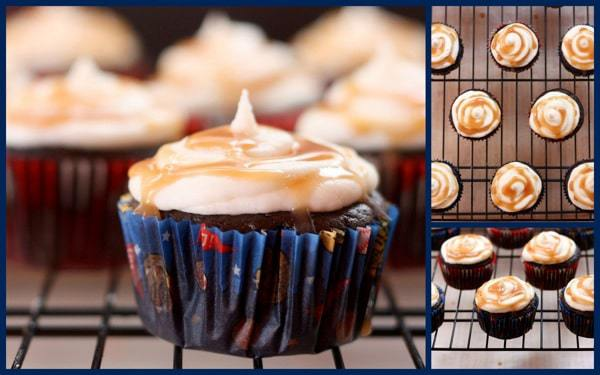 Coconut Salted Caramel Chocolate Cupcakes (flourless, with a secret ingredient!) | cupcakesandkalechips.com | #glutenfree