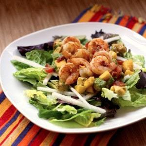 Tropical Mango Avocado Shrimp Salad