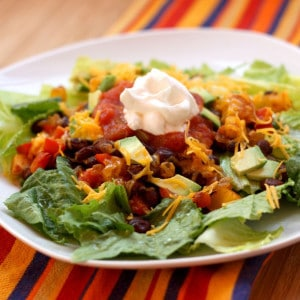 Mexican Black Bean Salad side