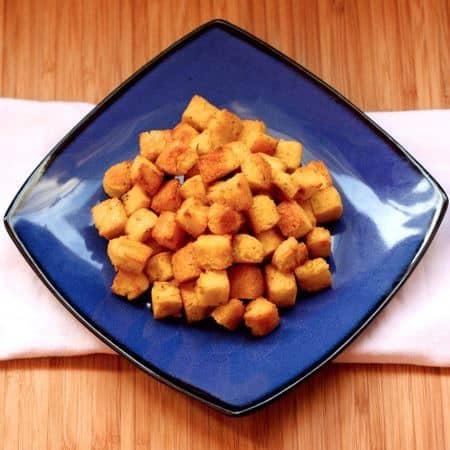 Polenta Croutons Top