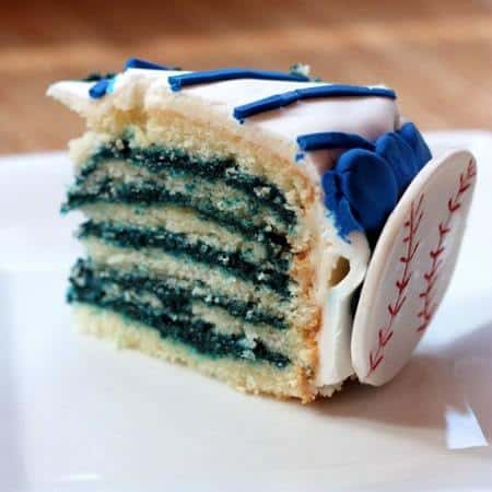 Reverse Blue Velvet Cake slice back