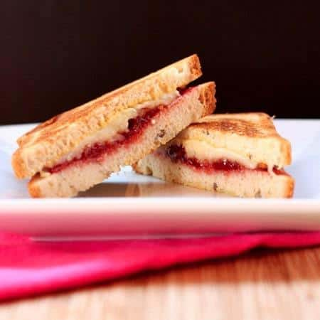 Strawberry Bacon and Havarti Grilled Cheese on Gluten Free 2