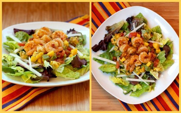 Tropical SHrimp Salad Collage 1